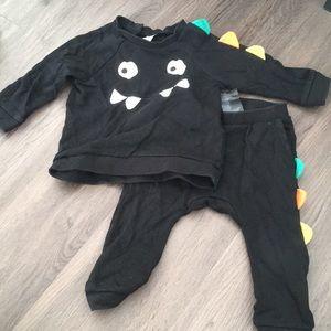 H&M Monster sweatsuit